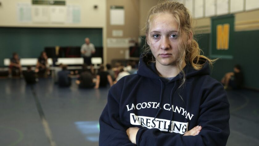 Need practice action or portrait of La Costa Canyon high school girls wrestler Maddie Konopka. Befor