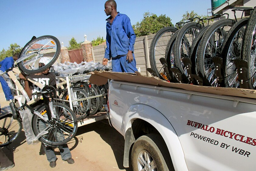 Youth-led effort donates new bicycles to orphans in Zimbabwe
