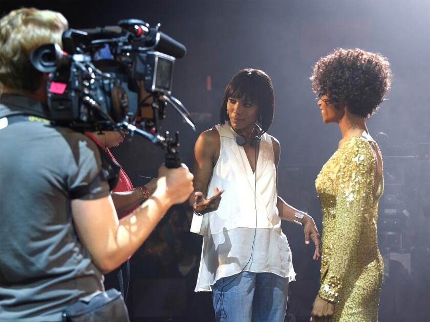 Angela Bassett directs Yaya DaCosta as Whitney Houston