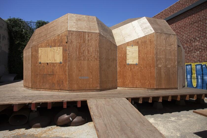 """Oscar Tuazon's """"Los Angeles Water School"""" installation in 2018."""