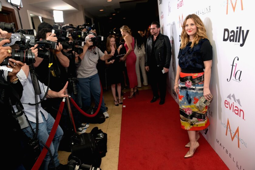 Drew Barrymore attends the Daily Front Row Fashion Los Angeles Awards show on Jan. 22 in West Hollywood.