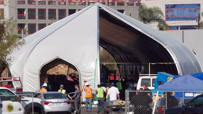 Newton Ave homeless tent