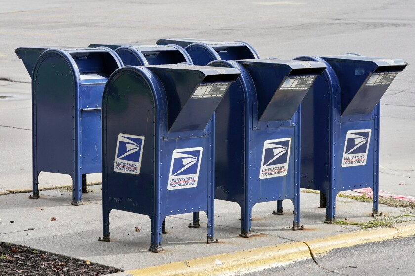 The Postal Service has missed delivery goals on first-class mail for 14 straight weeks.
