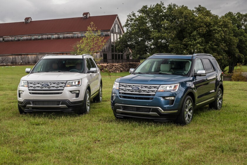 2019 Ford Explorer XLT Desert Copper Edition with 2019 Explorer Limited Luxury Edition