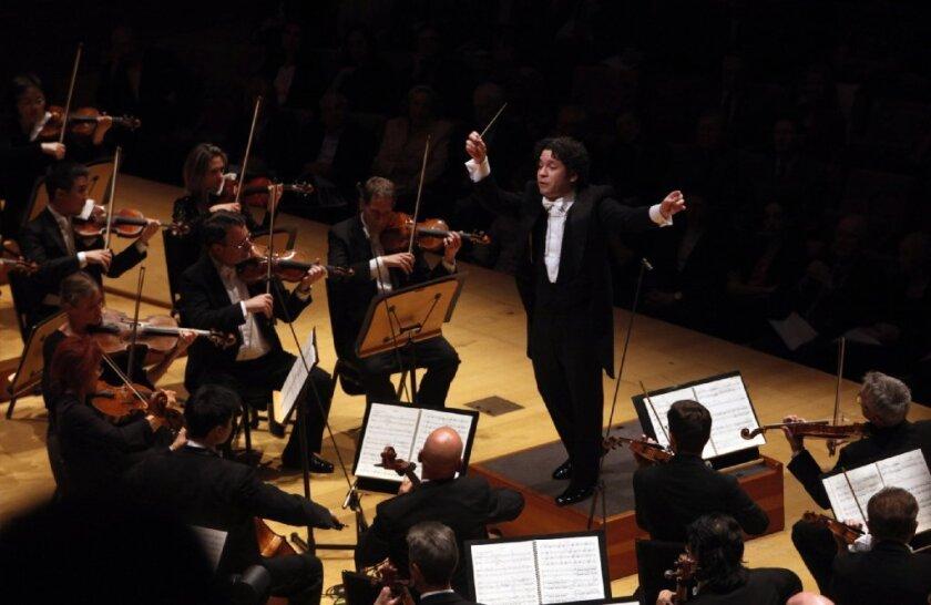 "Gustavo Dudamel conducts Stravinsky's ""Firebird"" with the Los Angeles Philharmonic at Walt Disney Concert Hall."