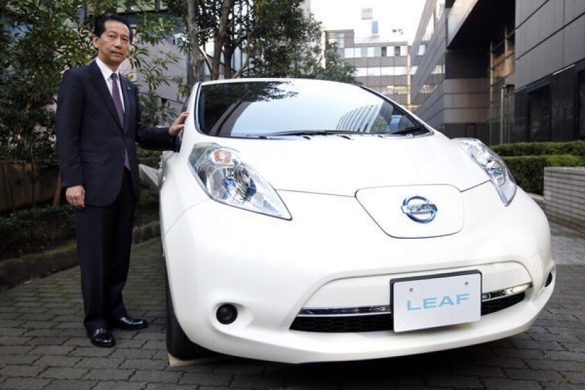 Nissan cuts Leaf retail price by $6,000 in bid to boost sales