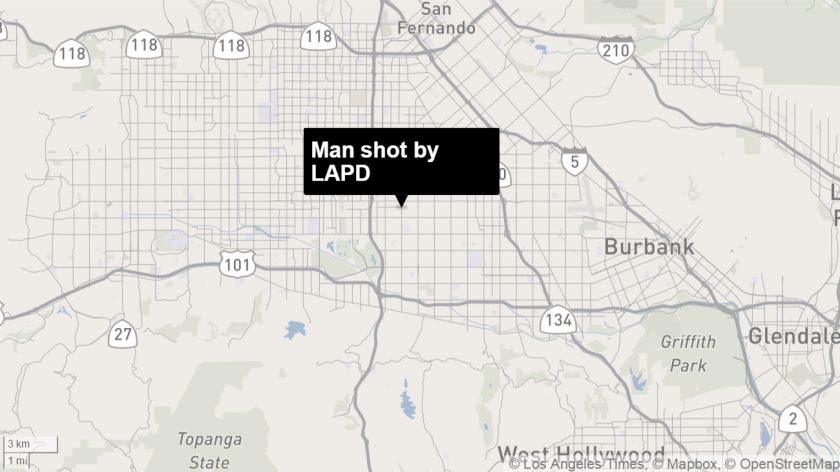 Map shows approximate location of shooting.