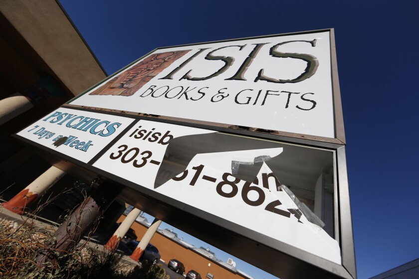 Isis bookstore in Colorado rebrands after vandalism - Los