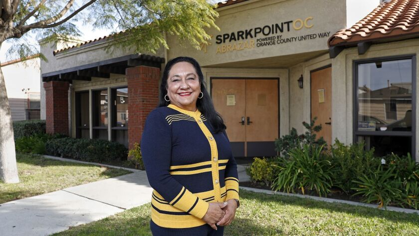 Gloria Reyes, CEO and executive director of Abrazar Inc., at Abrazar Community Service and Education