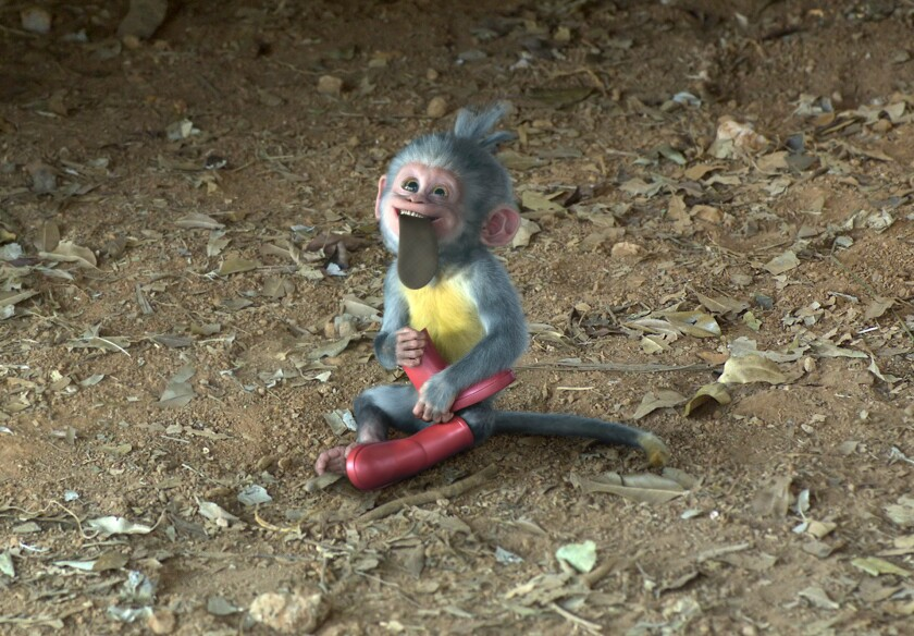"""The CGI version of Boots the monkey in """"Dora and the Lost City of Gold."""""""