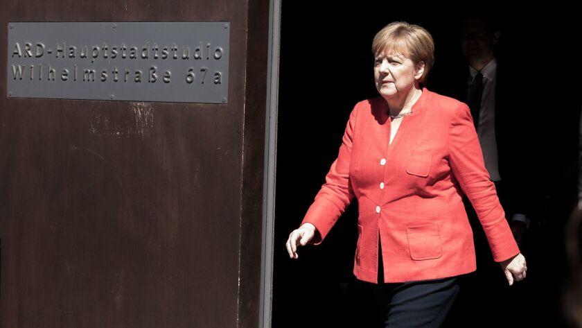 GERMANY-POLITICS-MERKEL-TV