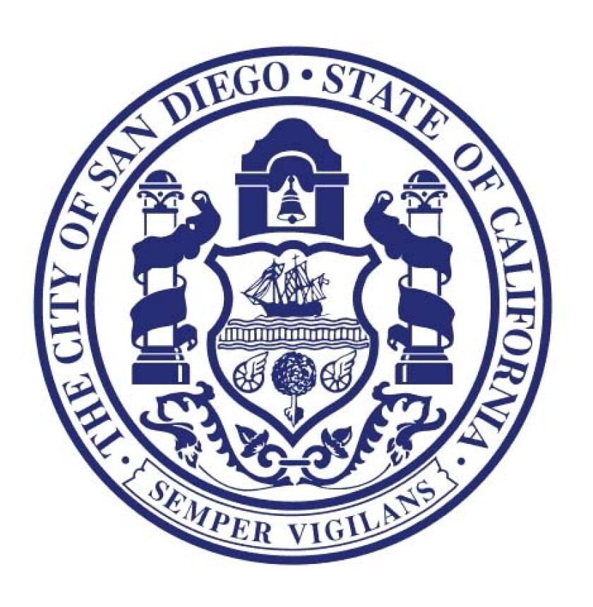 The San Diego city seal was designed by architect Carleton Monroe Winslow and was adopted in 1914.