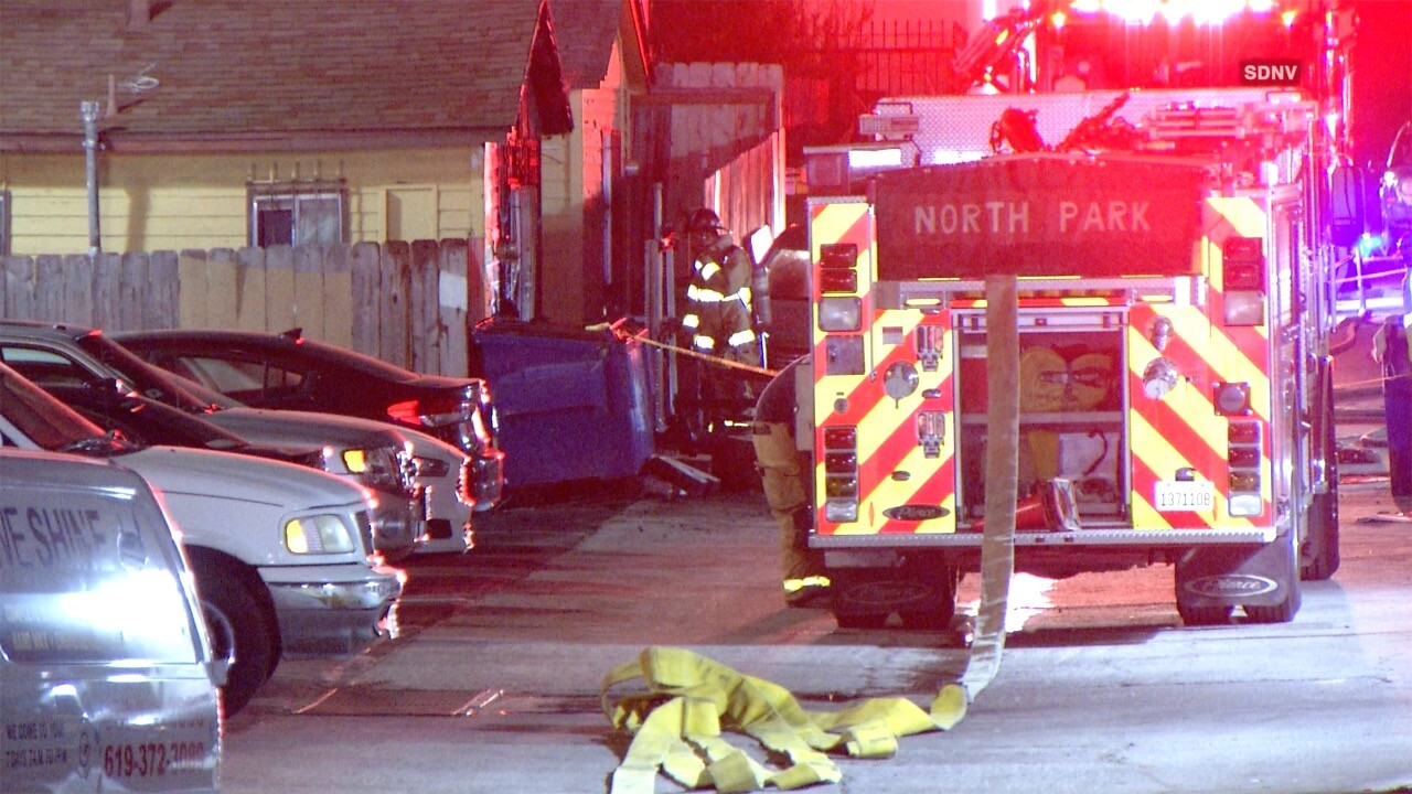 3 displaced by City Heights house fire