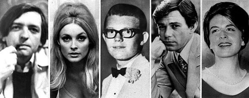 "Victims of the Manson ""family"" murders at Sharon Tate's home"