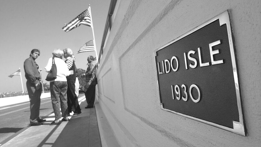 DPT.LidoBridge–1.032504.KT. The original plaque on the renovated Lido Isle Bridge gleams like new af