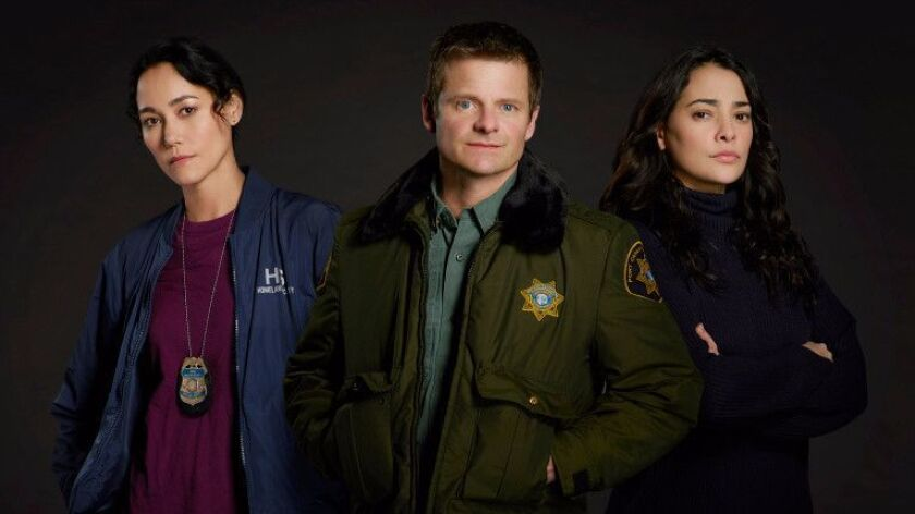 "THE CROSSING - ABC's ""The Crossing"" stars Sandrine Holt as Emma, Steve Zahn as Jude and Natalie Ma"