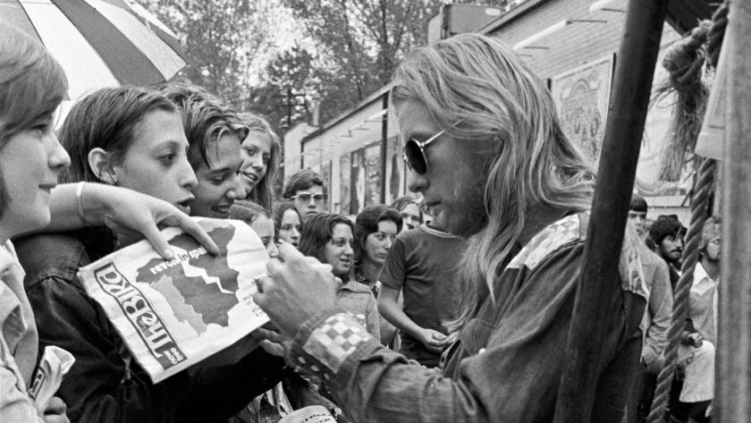 Gregg Allman of the Allman Brothers Band during Allman Brothers Band Appears at Peaches Records in A