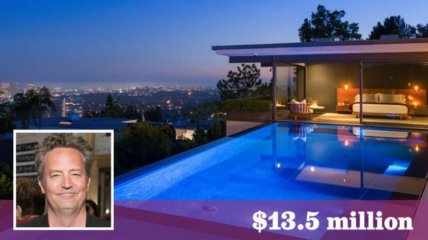 Actor Matthew Perry has listed his home in the Bird Streets of Hollywood Hills West for sale at $13.5 million.