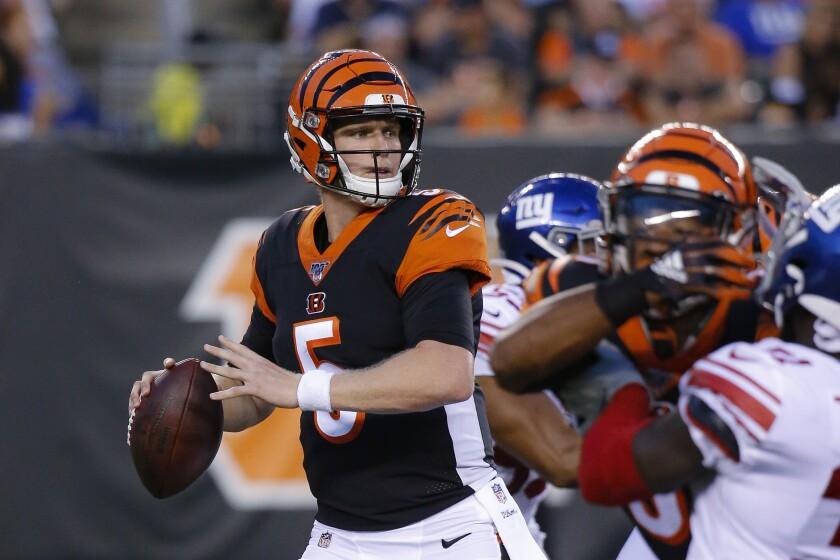 Cincinnati Bengals quarterback Ryan Finley will make his regular-season debut Sunday against the heavily favored Baltimore Ravens.
