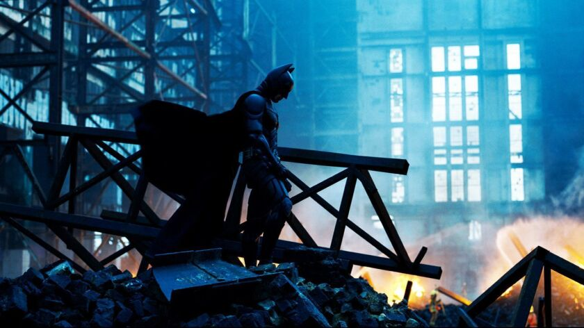 CHRISTIAN BALE stars as Batman in Warner Bros. Picturesí and Legendary Picturesí action drama movie
