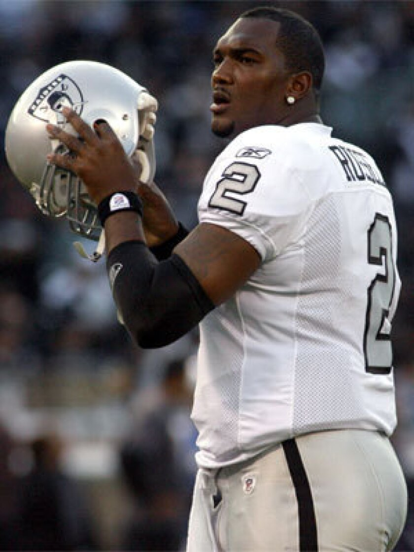 Former Raider JaMarcus Russell is determined to make NFL comeback