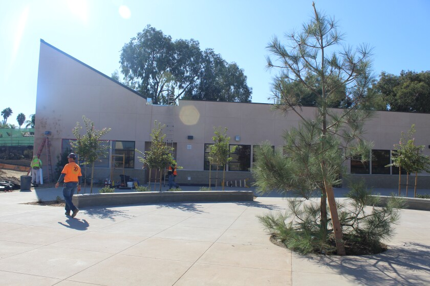 Students will move into their classrooms in the new building at Diegueno Middle School after winter break.