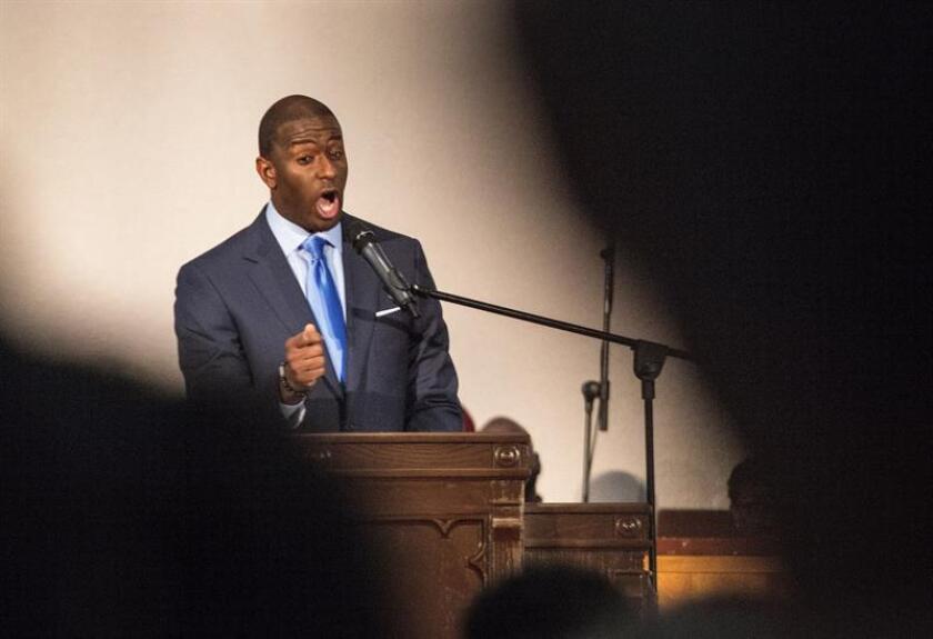 En la imagen, el candidato demócrata a la Gobernación de Florida, Andrew Gillum. EFE/Archivo