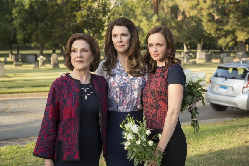 """Kelly Bishop, left, Lauren Graham and Alexis Bledel in """"Gilmore Girls: A Year in the Life."""""""