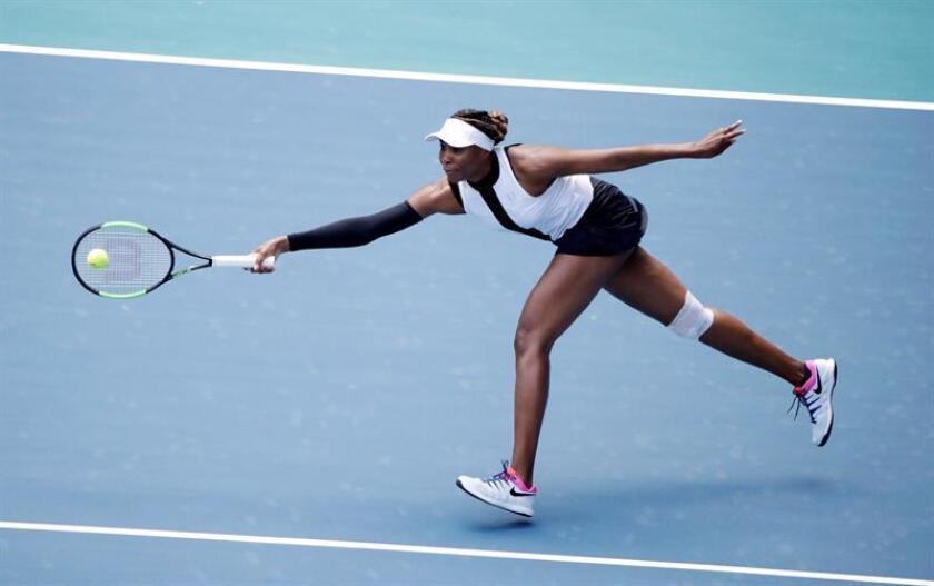 La tenista estadounidense Venus Williams durante un partido del Abierto de Miami. EFE