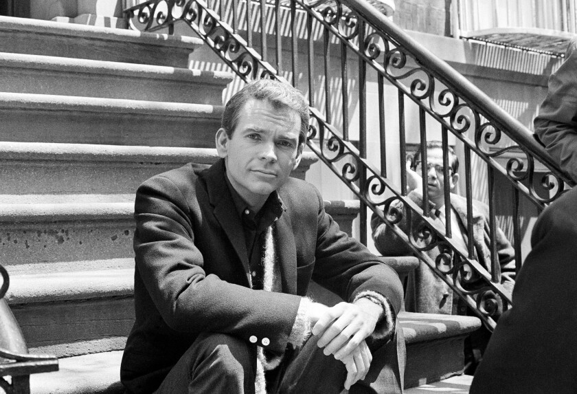 "Actor Dean Jones poses for a photo while on set for the Warner Bros. film ""Any Wednesday"" in New York in 1966."