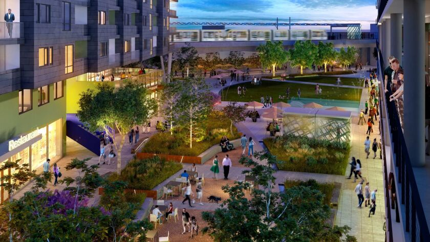 The Ivy Station development will include an expanded courtyard to serve as a public space for the co