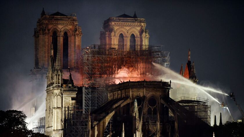 Cathedral of Notre-Dame of Paris on fire, France - 04 Jan 2019