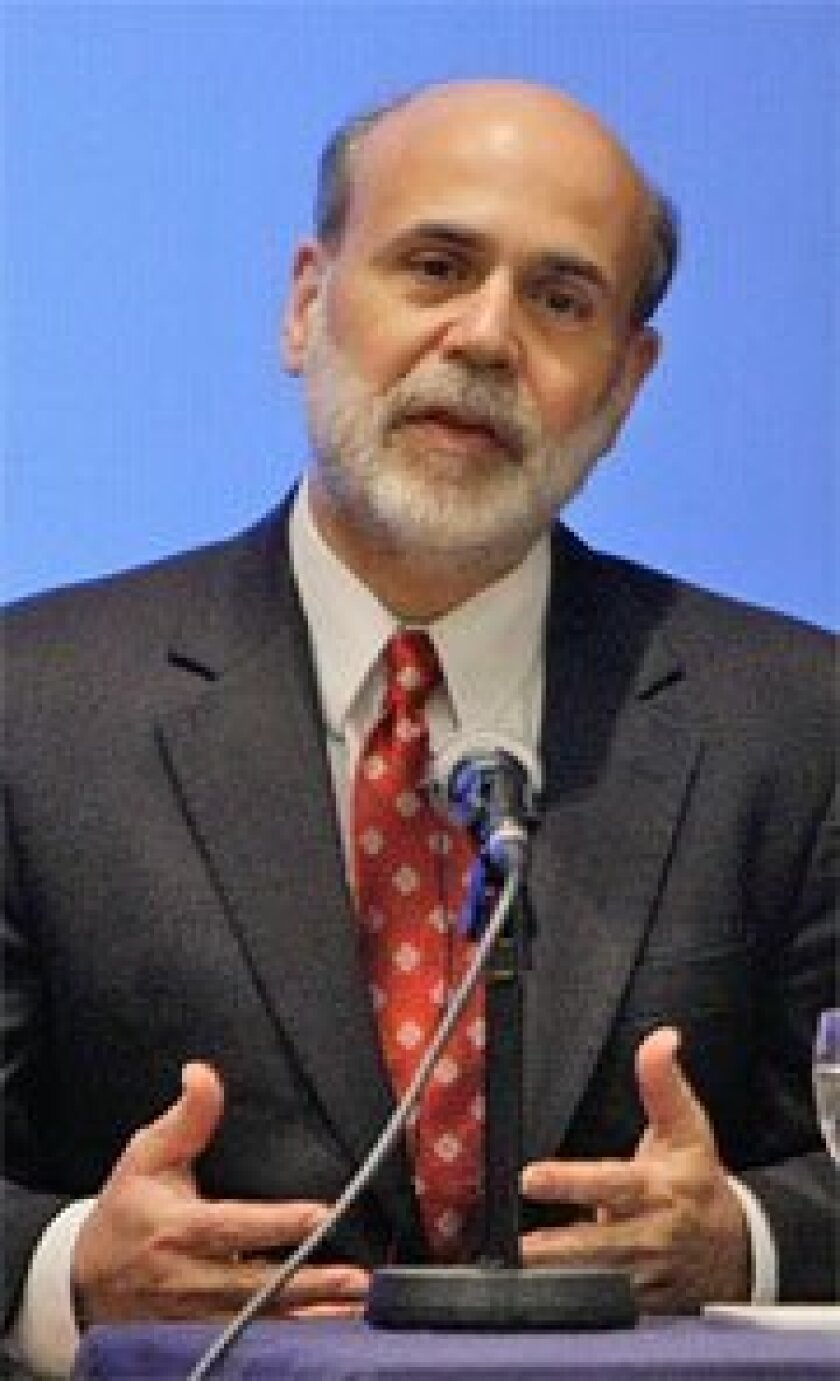 Federal Reserve chief Ben Bernanke