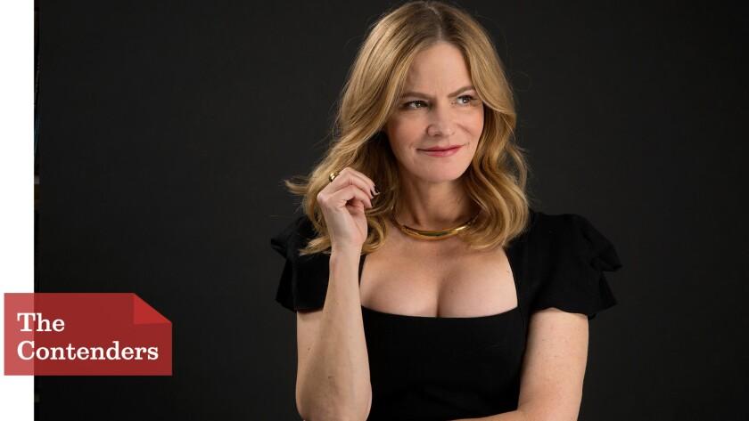 "Actress Jennifer Jason Leigh says her first Oscar nomination is ""phenomenal."""