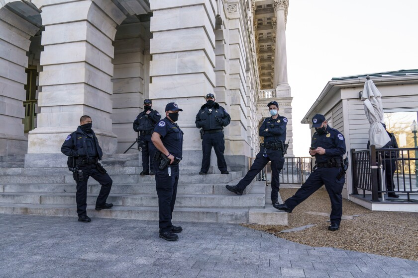 Heightened security at the U.S. Capitol.