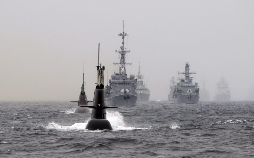 """Nonaligned Sweden took part in NATO's 10-day """"Dynamic Mongoose"""" antisubmarine exercise in the North Sea in May, a sign of Stockholm's desire for closer engagement with the Western alliance."""