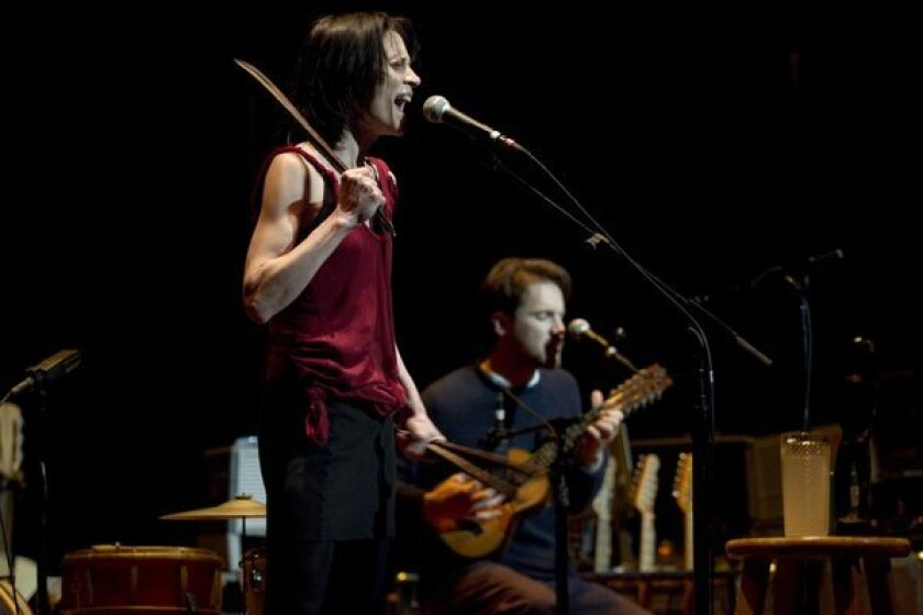 Fiona Apple and Blake Mills perform at the Newmark Theater in Portland, Ore.