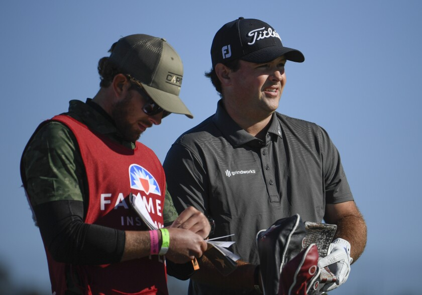 Farmers Insurance Open co-leader Patrick Reed, pictured Saturday at Torrey Pines, is no stranger to controversy.