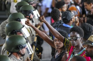 Protests in the weeks following Olango shooting