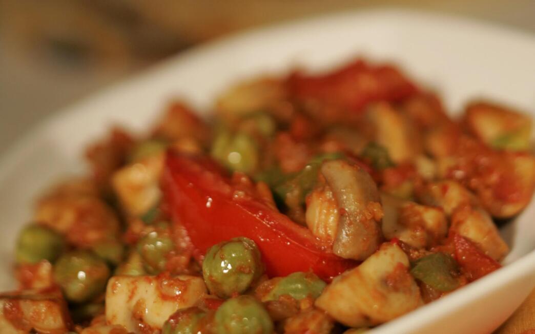 Garbanzo- mushroom masala
