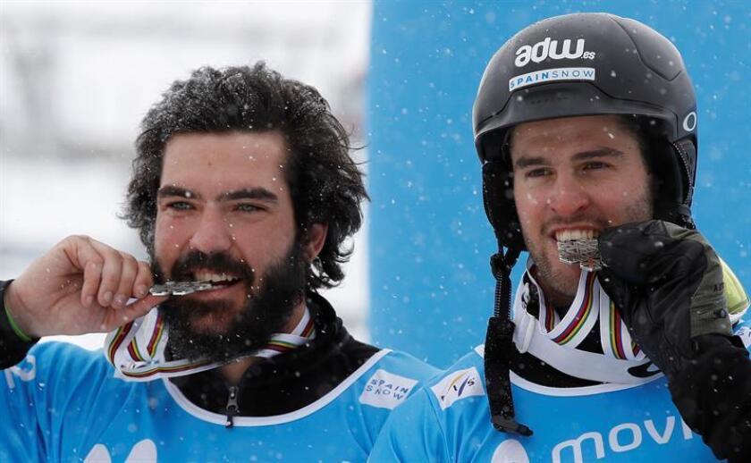 Los españoles Regino Hernández (i) y Lucas Eguibar (d). EFE/Archivo