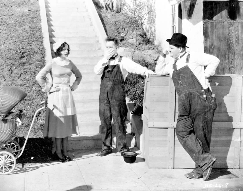 Lilyan Irene, Stan Laurel, Oliver Hardy, 'The Music Box'