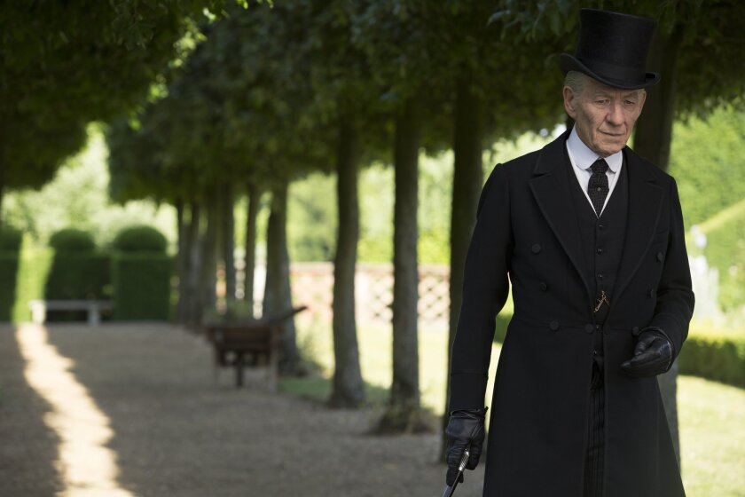 "Ian McKellen gives a flawless performance as Sherlock Holmes at age 93 in ""Mr. Holmes,"" based on Mitch Cullin's novel ""A Slight Trick of the Mind."""