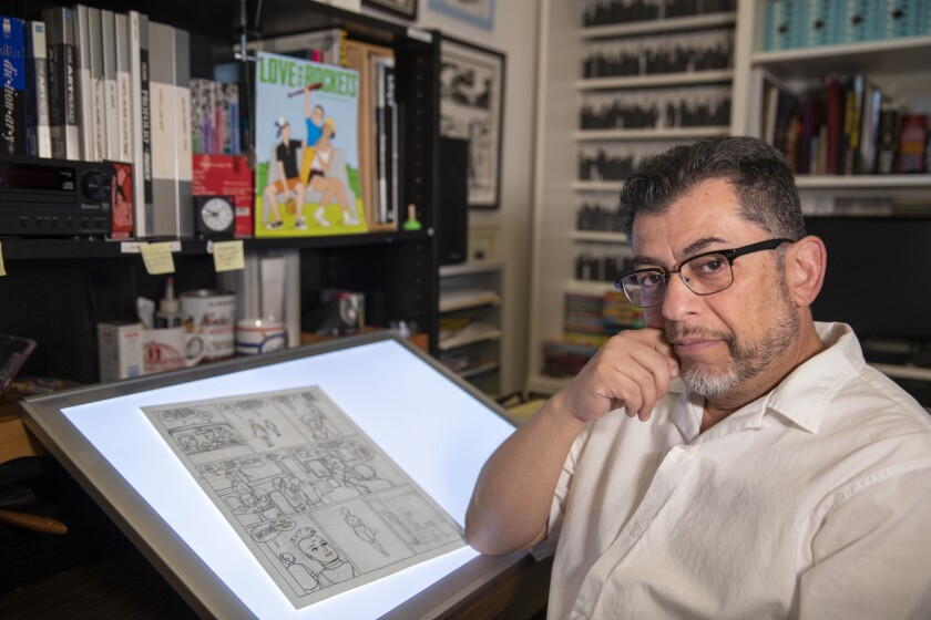 PASADENA, CALIF. -- TUESDAY, APRIL 23, 2019: Jaime Hernandez is a star in the world of comics for h