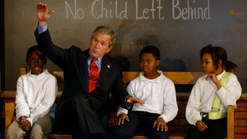 "President Bush celebrated the two year anniversary of the ""No Child Left Behind Act"""
