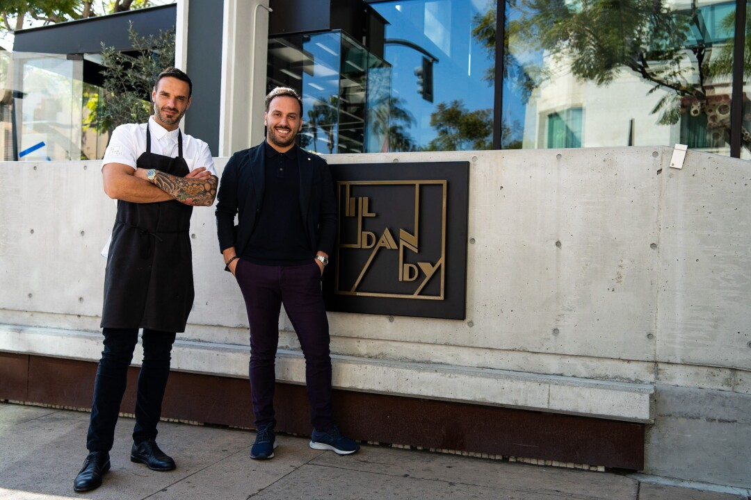 Brothers Pietro Gallo, left, and Dario Gallo outside their Bankers Hill restaurants Il Dandy/Arama. The year-old dual restaurant, opened in 2019 with Michelin-starred chefs Luca and Antonio Abbruzzino, is being converted into the more moderately priced Civico By the Park as a result of the pandemic.