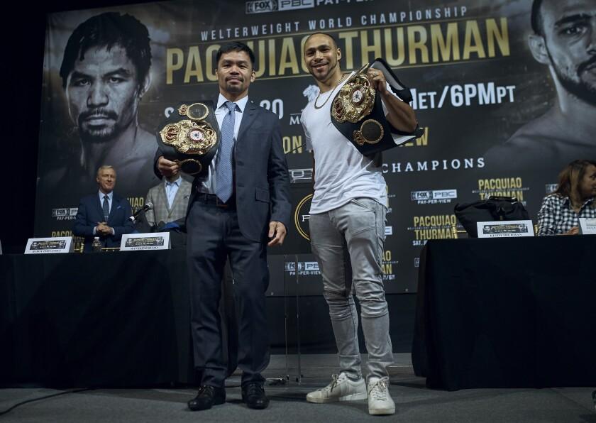 APphoto_Pacquaio Thurman Boxing