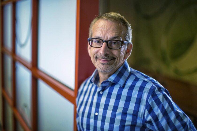 Biotech enterpreneur Richard Heyman poses in this 2014 file photo after the sale of Seragon Pharmaceuticals.