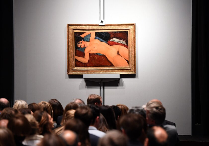 Modigliani at auction at Christie's