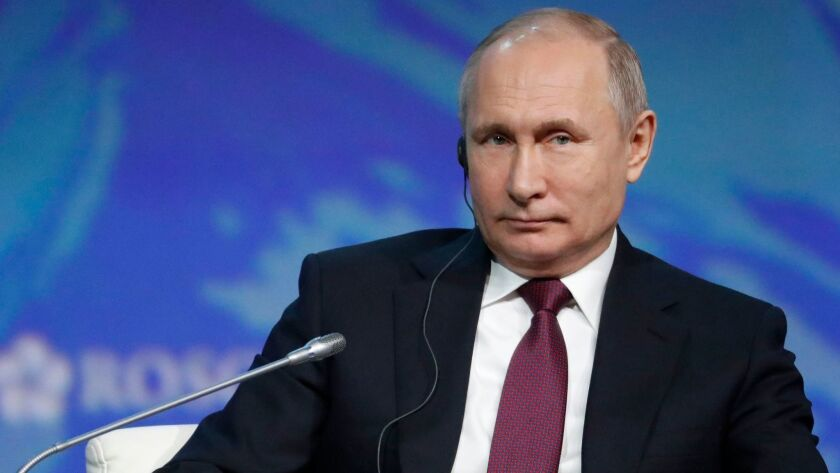 Russia S Vladimir Putin Outlines Ambitious Arctic Expansion Program Los Angeles Times
